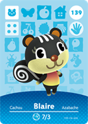 Amiibo Cards Animal Crossing Series 2 Blaire