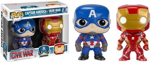 Funko Pop! Marvel Captain America & Iron Man (Civil War) (2-Pack) Stock
