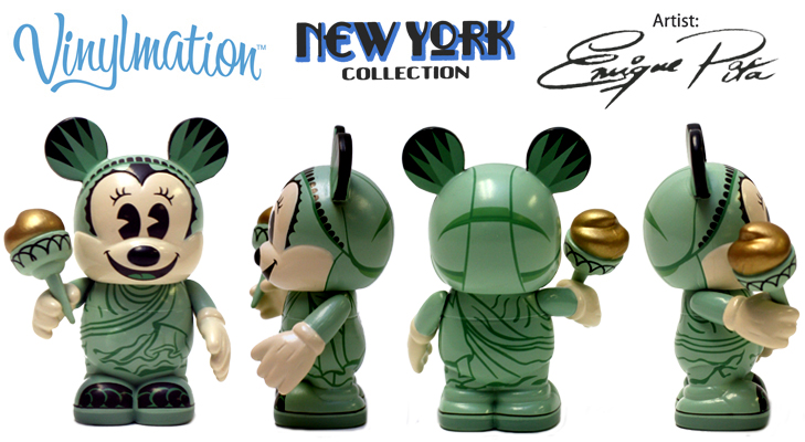 Vinylmation Open And Misc City New York Liberty Minnie