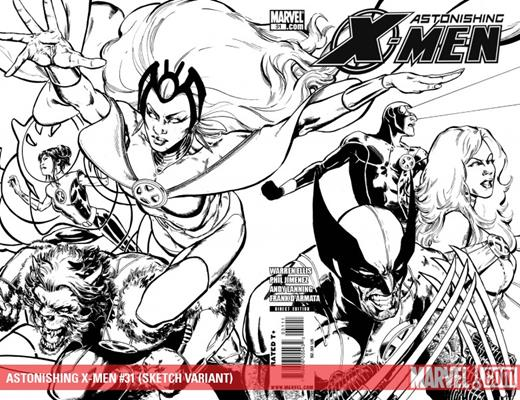 Marvel Comics Astonishing X-Men (2004 - 2013) Astonishing X-Men (2004) #31 (SKETCH VARIANT)