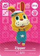 Amiibo Cards Animal Crossing Series 4 Zipper