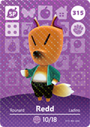 Amiibo Cards Animal Crossing Series 4 Redd