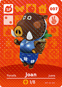 Amiibo Cards Animal Crossing Series 1 Joan