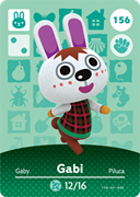 Amiibo Cards Animal Crossing Series 2 Gabi
