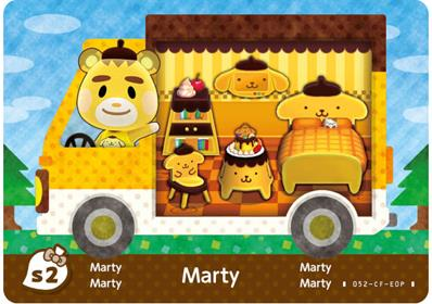Amiibo Cards Animal Crossing X Sanrio Marty - Purin (Europe)