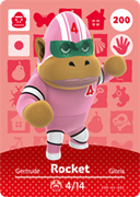 Amiibo Cards Animal Crossing Series 2 Rocket