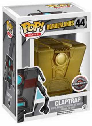 Funko Pop! Games Claptrap (Gold) Stock Thumb