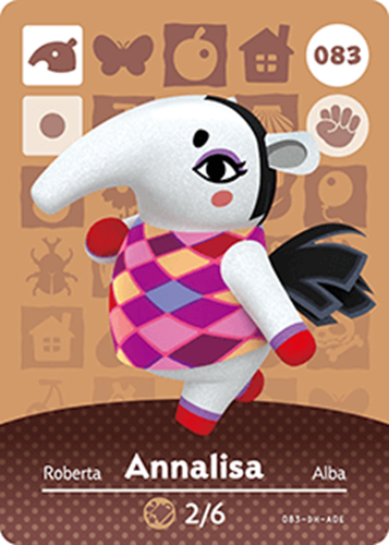 Amiibo Cards Animal Crossing Series 1 Annalisa