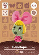 Amiibo Cards Animal Crossing Series 4 Penelope