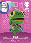 Amiibo Cards Animal Crossing Series 2 Nat