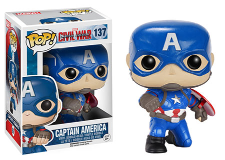 Funko Pop! Marvel Captain America (Civil War) (Action Pose) Stock