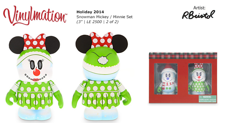 Vinylmation Open And Misc Holiday Minnie