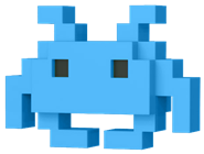 Funko Pop! 8-Bit Medium Invader (Blue)