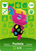 Amiibo Cards Animal Crossing Series 2 Fuchsia