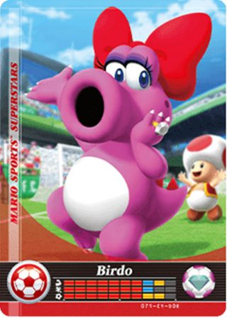 Amiibo Cards Mario Sports Superstars Birdo - Soccer Icon