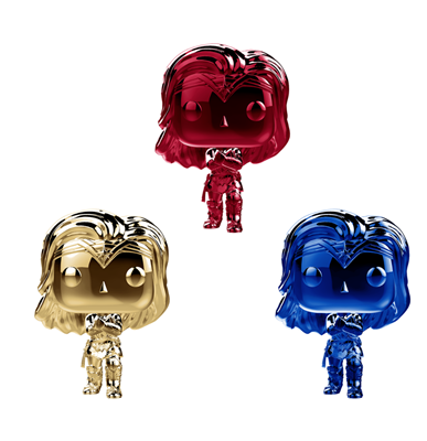 Funko Pop! Heroes Wonder Woman Chrome (3-pack)