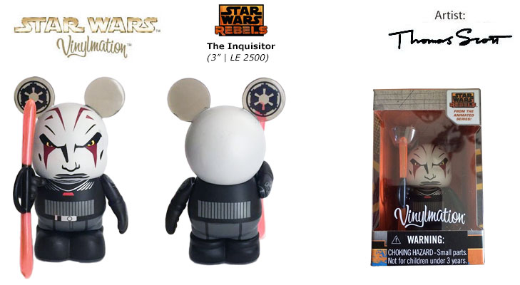 Vinylmation Open And Misc Star Wars Rebels The Inquisitor