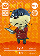 Amiibo Cards Animal Crossing Series 1 Lyle