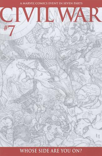 Marvel Comics Civil War (2006 - 2007) Civil War (2006) #7 (Turner Sketch Variant)