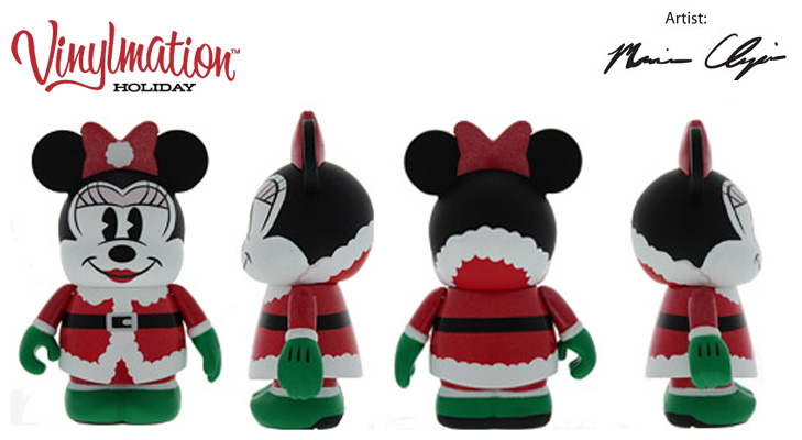 Vinylmation Open And Misc Holiday 2013 Minnie Santa