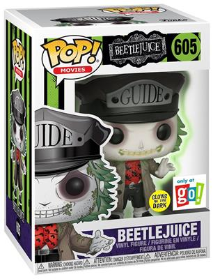 Funko Pop! Movies Beetlejuice (Tour Guide) - Glow Stock