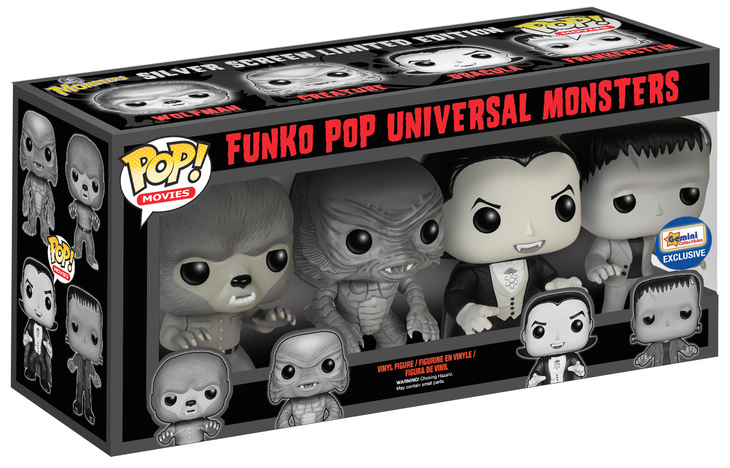 Funko Pop! Movies Universal Monsters (4-Pack) - B&W Stock