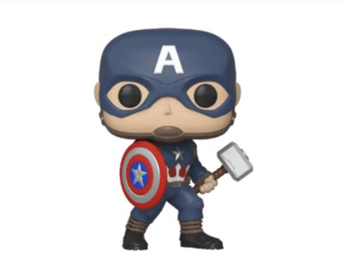Funko Pop! Marvel Captain America (w/ Mjolnir)