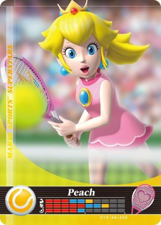 Amiibo Cards Mario Sports Superstars Peach - Tennis Icon
