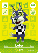Amiibo Cards Animal Crossing Series 4 Lobo