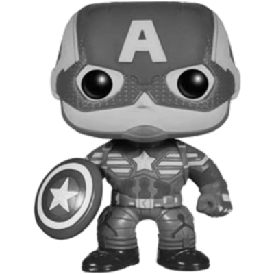 Funko Pop! Marvel Captain America (Winter Soldier) (Black & White)