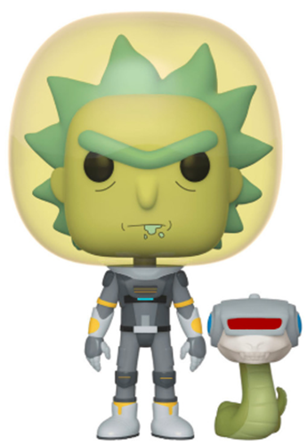 Funko Pop! Animation Space Suit Rick with Snake Icon