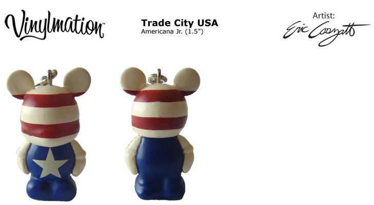 Vinylmation Open And Misc Trade City Americana Jr.