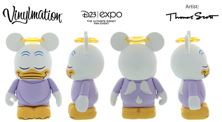 Vinylmation Open And Misc D23 Angel Donald Duck