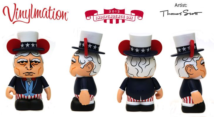 Vinylmation Open And Misc Holiday 2012 Independence Day Uncle Sam