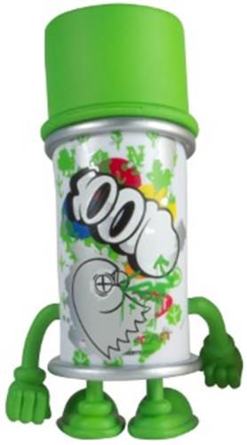Kid Robot Blind Boxes Bent World Spray Can Green (Spent)