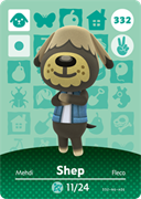 Amiibo Cards Animal Crossing Series 4 Shep