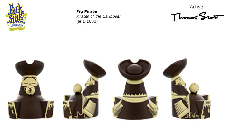 Vinylmation Open And Misc Park Starz 3 Pig Pirate 'black'