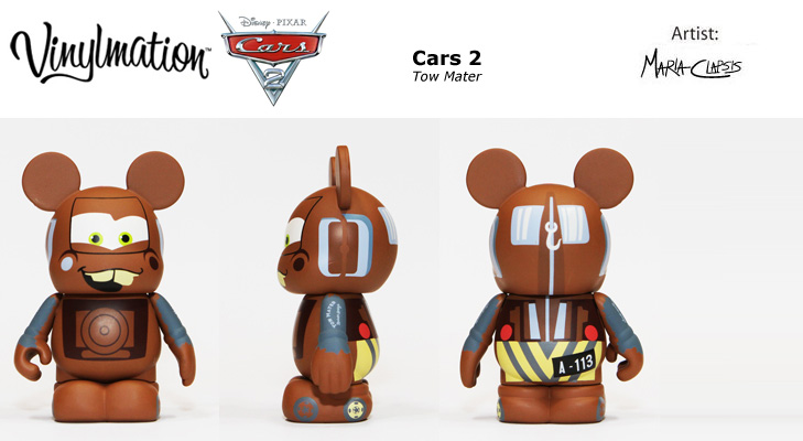 Vinylmation Open And Misc Cars 2 Tow Mater